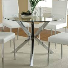 glass dining table base ideas table and estate intended for round glass dining table decor