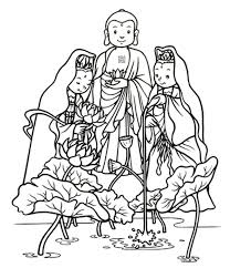 Buddha Coloring Page Home Of Amitabha