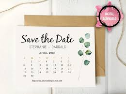 Rustic Eucalyptus Greenery Save The Date Template Download