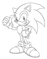 Kleurplaat Sonic Sega 1321