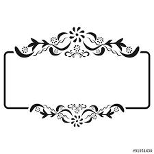 Vignette Design Vintage Floral Frame Vector Illustration Png Templates