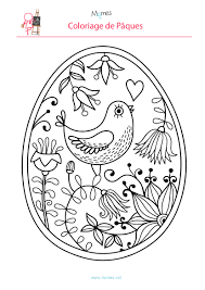 Coloriage De L Oeuf De P Ques L Oiseau Momes Net