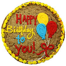 Amazoncom Triolos Bakery Chocolate Chip Cookie Birthday Cake