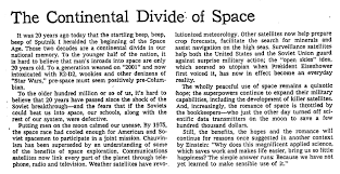 throwback thursday the space race the new york times 1977 editorial the continental divide of space