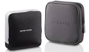 harman kardon wireless bluetooth speaker. harman kardon esquire portable wireless bluetooth stereo speaker system - front view and carry case