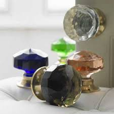 large glass door knobs