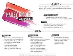 13 Makeup Artist Resume Examples Sample Resumes Sample Resumes
