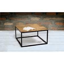 modern square coffee table. Suri Modern Industrial Square Coffee Table In Mango Wood \u0026amp; Metal Detail F