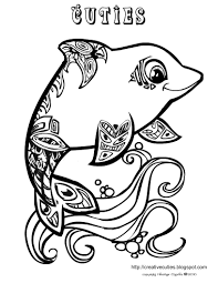 cute animal coloring pages for girls dolphins and dogs on same ...