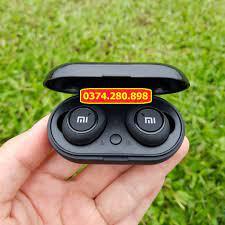Tai Nghe Bluetooth AirDots Redmi2 Đen True Wireless Công Nghệ 5.0 Kèm Đốc  Sạc ,Cảm Biến Tự Động Kết Nối - Tai nghe Bluetooth nhét Tai Nhãn hàng No  Brand