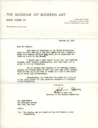 letter down the day andy warhol s art got rejected andy warhol rejection letter