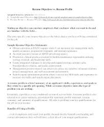 Objective Statement On Resume Example Of Resume Profile Resume Opening Statement Examples Classic