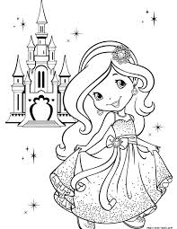 strawberry shortcake coloring pages free printable inspirational printable princess coloring pages for s free coloring library