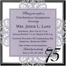 Sample Of 50th Birthday Party Program 75th Birthday Invitations Birthday Invitation 75th Birthday