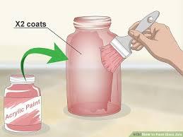 image titled paint glass jars step 2