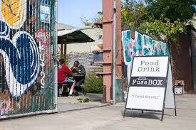 fusebox plots expansion in west oakland inside scoop sf Fuse Box Outside House shawn walker smith and his son denzel eat lunch outside of fusebox in west oakland fuse box outside house