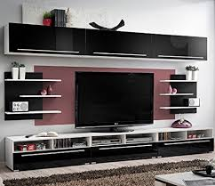 Small Picture Amazoncom Conte Contemporary Wall Unit Modern Style TV Stands