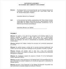 Sample Partnership Agreement Form Free Sample Partnership Agreement Magdalene Project Org