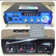 MR38 original acoustic ampli Mini KARAOKE bluetooth Power Amplifier blutoot  bluetot blutut ampli USB MP3 player audio sound AC DC accu pro aux dj asli  radio fm music musik EUT 2 output