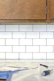 diy kitchen tile backsplash white subway tile dreamgreencom diy paint kitchen tile backsplash