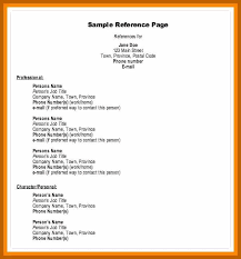 2 3 Example Reference List Resumesheets