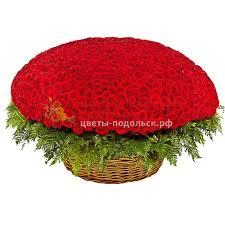 <b>Композиция из 1001</b> бордовой розы. 1 / Цветы в Подольске ...