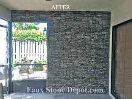 faux rock panels exterior stone wall huge collection interior fake