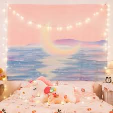 You can also consider an outdoor patio rug. Anime Tapestry Moon Bay Psychedelic Pink Dorm Room Decor Macrame Wall Hanging Tapastry Kawaii Tapestrys Rainbow Trippy Plush New Tapestry Aliexpress