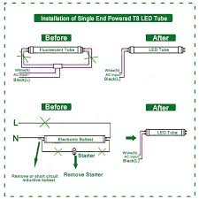 Fluorescent To Led Conversion Chart Wiring Diagram For Led Tube Lights Wiring Schematic