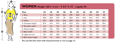 Bust Size Chart Women The Ottobre Design Blog Womens Size Chart In Inches