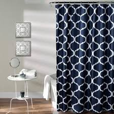 blue and cream shower curtain. geo shower curtain blue and cream
