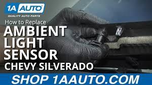 Silverado Ambient Light Sensor Replacement How To Replace Ambient Light Sensor 14 19 Chevy Silverado