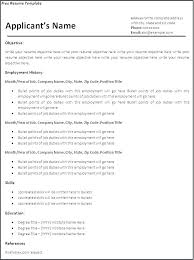 Free Resume Templates Word Document Word Document Resume Template