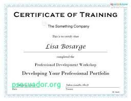 Free Professional Certificate Templates Inspiration Free Training Completion Certificate Templates New Professional
