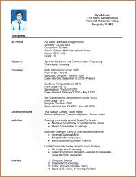 Cv Samples For Students With No Experience Resume Template