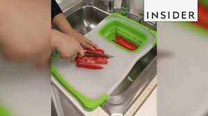 Sink With Cutting Board This Over The Sink Cutting Board Is A Lifesaver Youtube