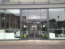 office entrance doors. Office Building - Bath Aluminium Entrance Screen With Automatic Sliding Doors U