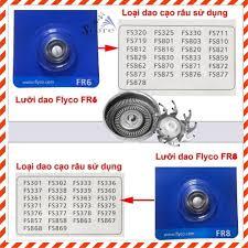 Lưỡi dao cạo râu FLYCO FR6, FR8 cao cấp thay thế cho tất cả các model dòng máy  cạo râu FLYCO, Giá tháng 10/2020