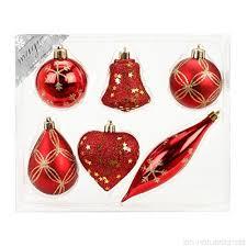 6 Stk Pvc Weihnachtsfiguren Christbaumfiguren 6 12 Cm Rot