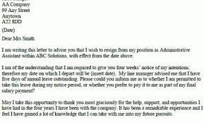 Formal Resignation Letter Example – Resignation Letter Examples ...