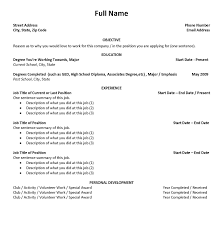 ... 100 sample resume for summer job college student with no ...