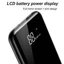 Pin sạc dự phòng không dây 8000 mAh Baseus cho iPhoneX (LCD Qi Wireless  Charger, 2A, Power Bank) - LV197 - Pin sạc dự phòng di động Thương hiệu No  Brand