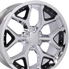 All Chevy chevy 22 inch rims : CV98 22-inch black insert chrome deep dish wheels fit Chevy Silverado