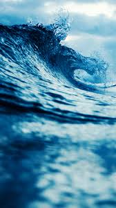Free Hd Blue Waves Phone Wallpaper 5889