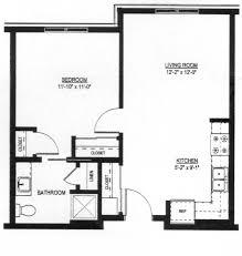 One Bedroom One Bedroom Plan