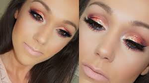 sunset eye makeup tutorial prom makeup hooded eyes