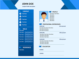 Powerpoint Resume Inspiration Professional Resume PowerPoint Template SketchBubble Resume