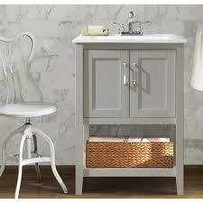 Legion Bathroom Vanity Legion Furniture 24 Gray Bathroom Vanity With Basket Myvanity Depot