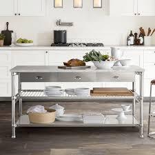 Image Ikea Williams Sonoma Modular Double Kitchen Island With Marble Top