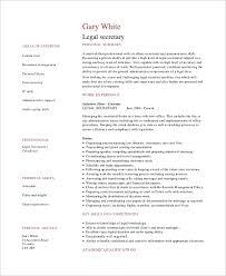 Resume Sample For Secretary Sample Secretary Resume 8 Examples In Word Pdf